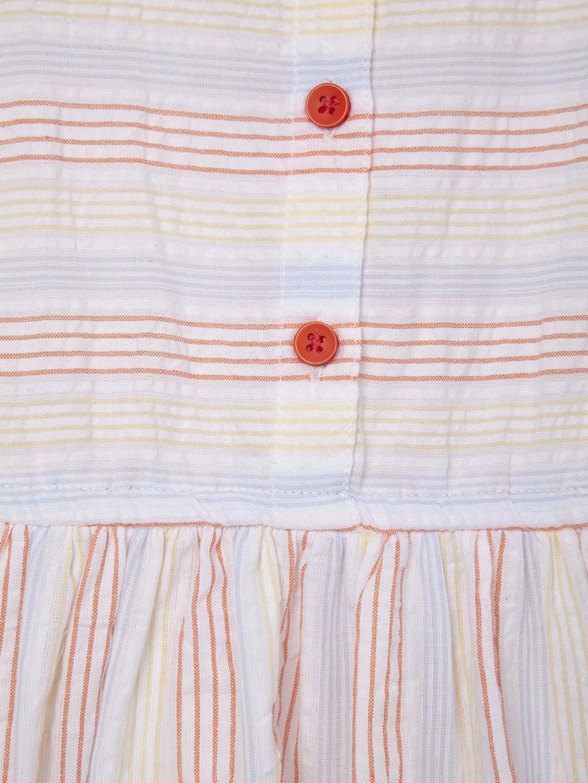 cdba8c3a2c16c9 Girls Striped Seersucker Dress